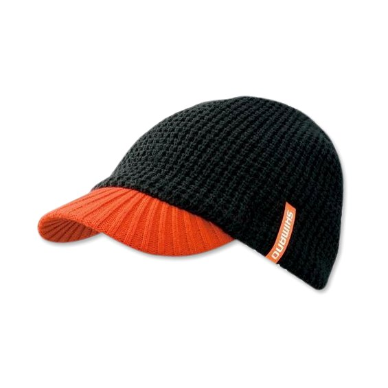 Шапка Shimano Knit Cap(with brim) CA-085M черная, размер Regular